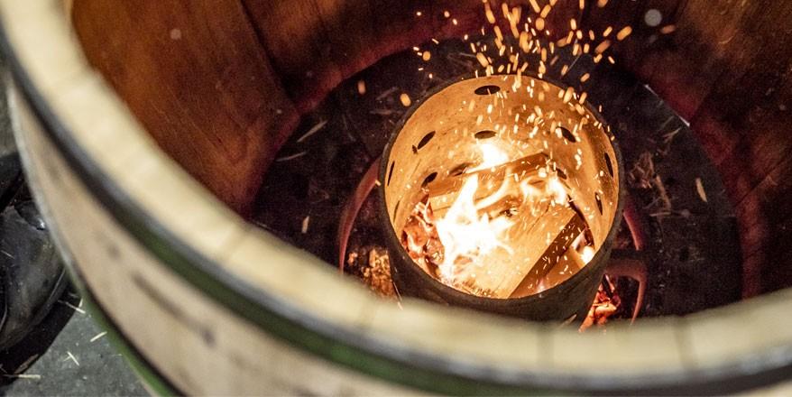 Barrel heating process